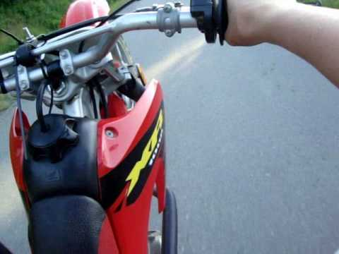 Helmet cam on a crf100 top speed - YouTube