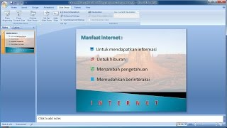 Tutorial PowerPoint 2007 |Cara membuat gambar latar belakang transparan di PowerPoint