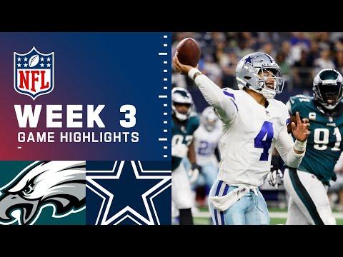 Eagles vs. Cowboys Week 3 Highlights   NFL 2021