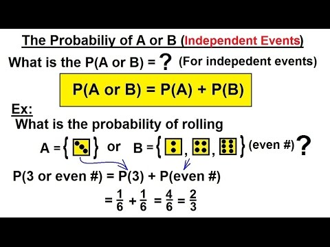 probability statistics 14 of 62 the probability of a or b independent events youtube. Black Bedroom Furniture Sets. Home Design Ideas