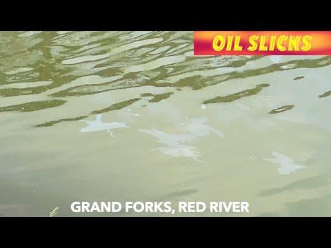 Oil Slicks On Red River In Downtown Grand Forks Under Investigation