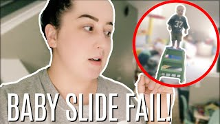 Toddler Slide Epic Fail! My Toddler Is a Daredevil!