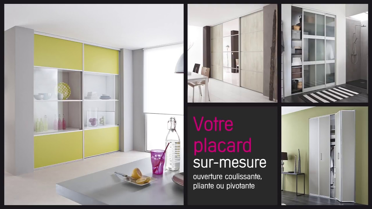 kazed portes de placard sur mesure pr tes poser youtube. Black Bedroom Furniture Sets. Home Design Ideas