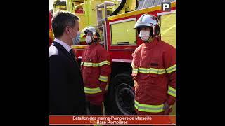 Gérald Darmanin rend visite aux marins-pompiers de Marseille et au SDIS13.