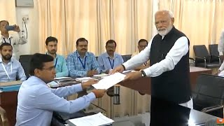 PM Modi files nomination from Varanasi; accompanied by ministers, allies