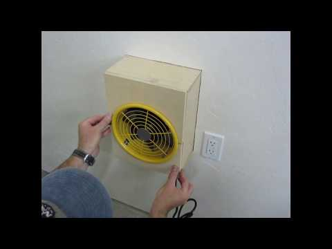 DIY Spray Booth Construction - DirtKicker Pottery Glaze Spray Booth - by John Gilliland