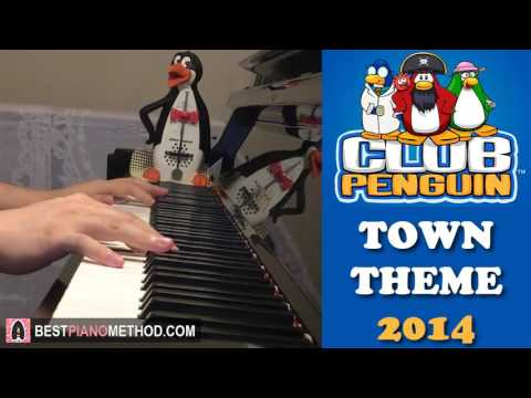 Club Penguin OST - The Town Theme Music 2014 (Piano Cover by Amosdoll)