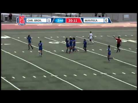 Nici Lopez of Christian Brothers scores the lone goal of the match