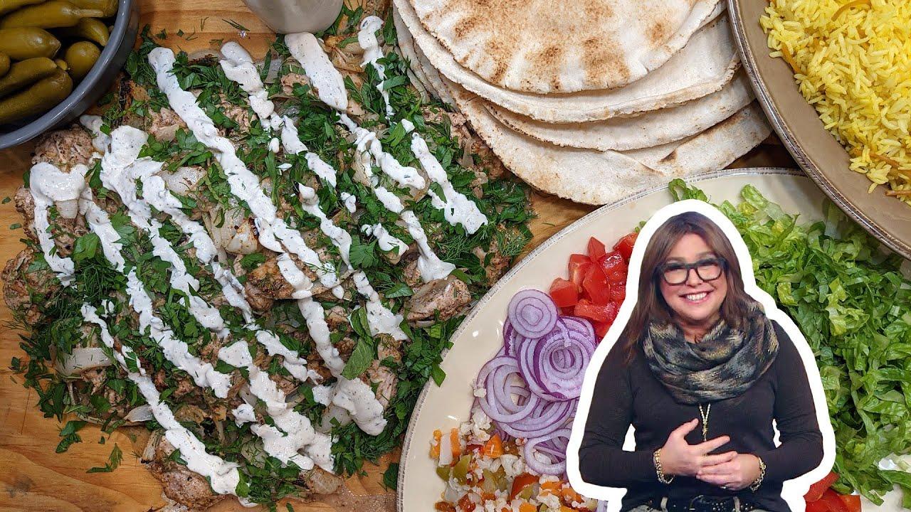 Download How to Make Za'atar Chicken Shawarma + Turmeric Rice Pilaf | Rachael Ray