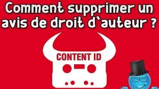 Comment enlever un avis de droit d'auteur - Content ID | Info Youtube
