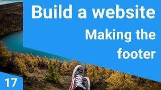 Build a responsive website tutorial  17 - The website footer