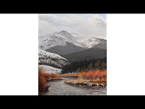 Painting an Amazing Yellowstone Landscape