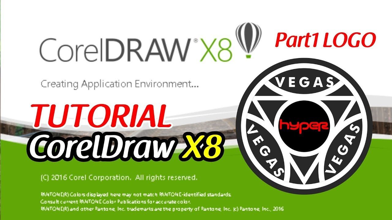 tutorial corel draw x8 logo distro bahasa indonesia part1