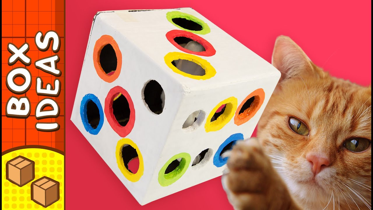 DIY Cat Toy - Dice | Craft Ideas for Kids on Box Yourself ... - photo#16