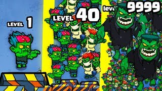 HOW OVERPOWERED is the STRONGEST ZOMBIE ARMY EVOLUTION? (9999+ WAVE BOSS) l Zombie Idle Defense