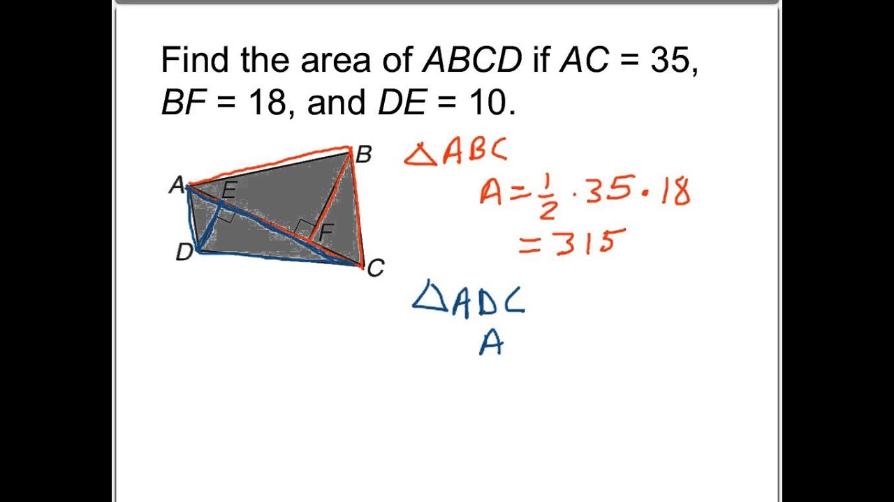 2 Area Of An Irregular Quadrilateral