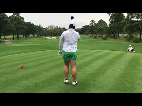 Honda LPGA Thailand 2018 Shanshan Feng's golf swing at Siam Country Club Pattaya Old Course