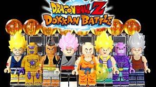 Dragon Ball Z Dokkan Battle Goku Gotenks Golden Frieza & More Unofficial LEGO Minifigures