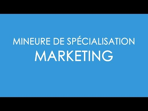 BBA4 - Présentation de la mineure Marketing