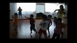 Kids dancing to Make Some Noise for the Desi Boys at Dancend by Ruchi