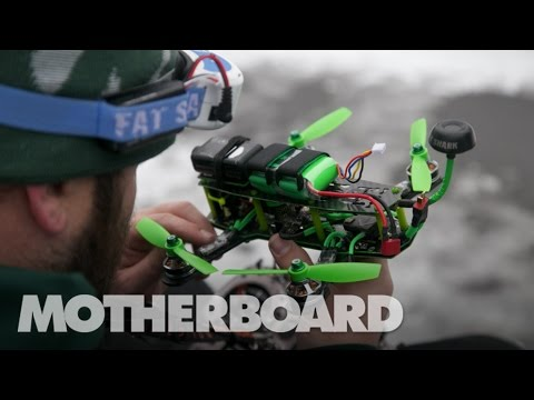 This Is How You Race a Drone in the Snow (FPV) - YouTube
