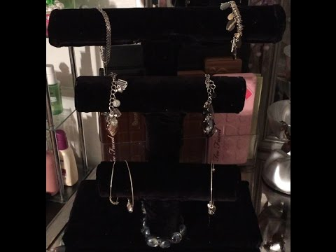 DIY, Triple Bar Jewelry Stand in Black velvet |Recycled material|