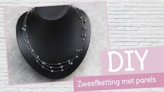 DIY sieraden maken met Kralenhoekje - zweefketting met parels