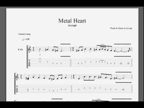 Accept Metal Heart Solo Guitar Tablature