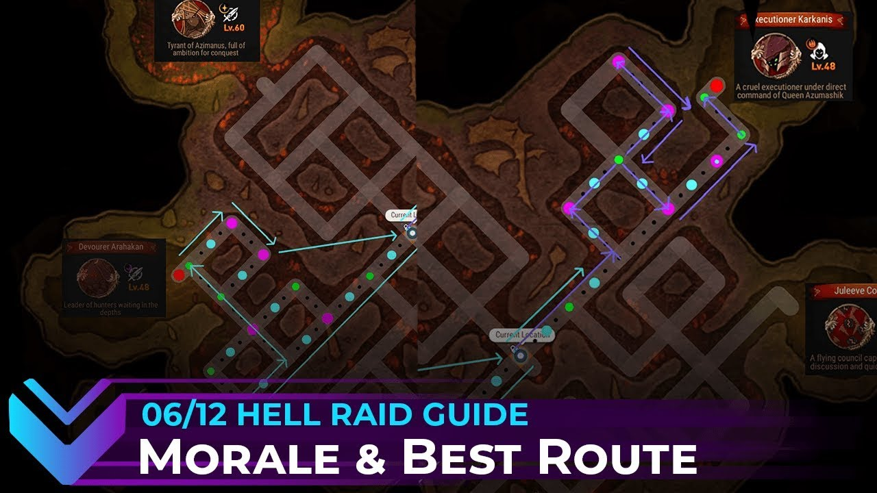 Hell Raid Morale Mechanics Optimal Route Guide Epic Seven Youtube