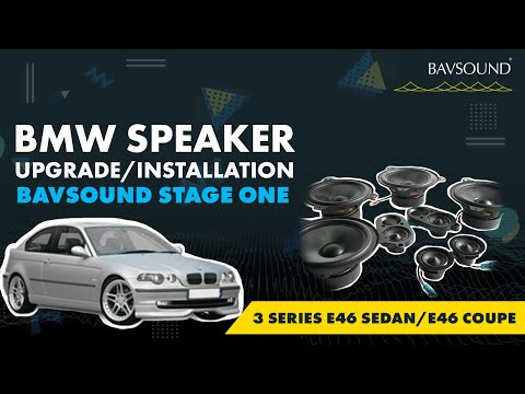 Bavsound Stage One - BMW 3 Series E46 Sedan/E46 Coupe REAR - Speaker Upgrade Installation Video