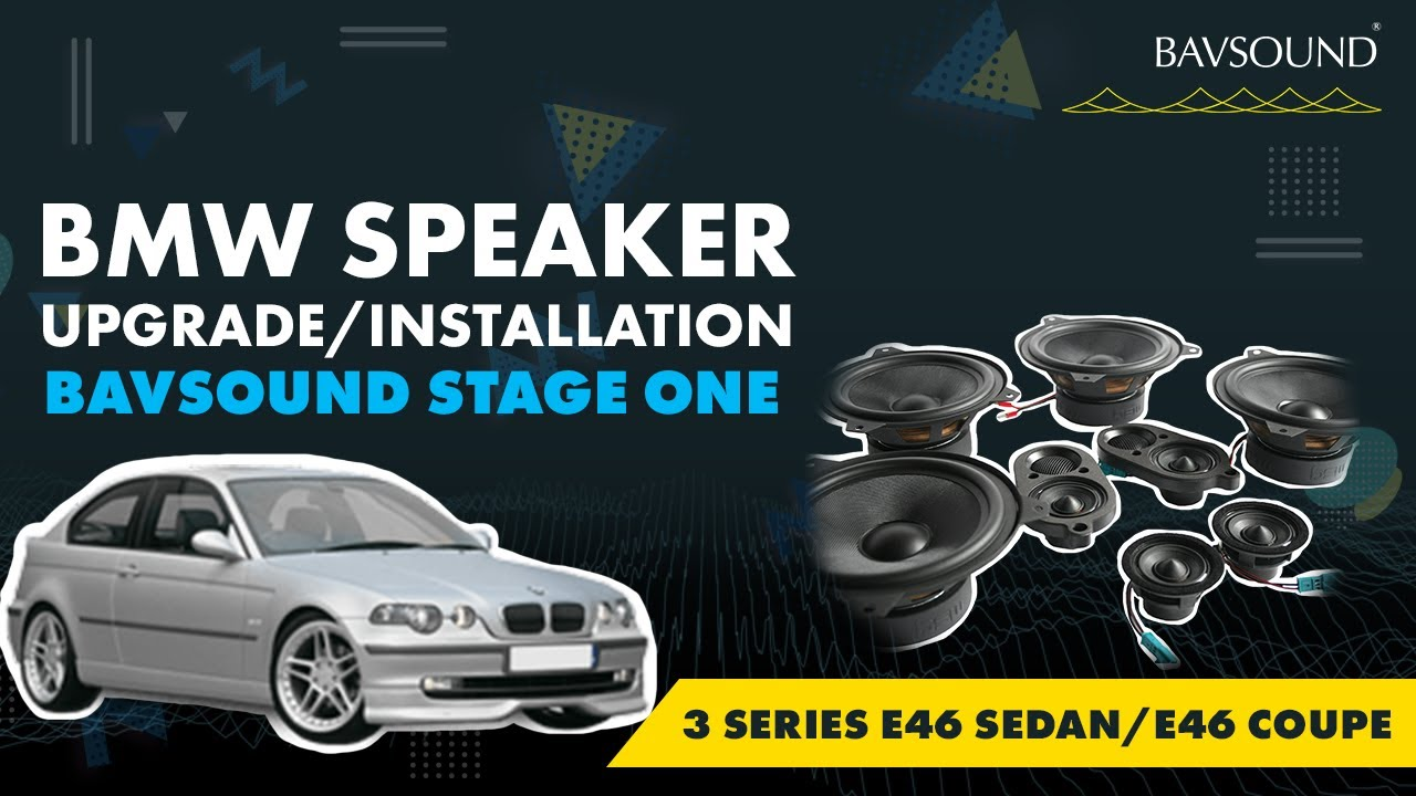 Bavsound Stage One Bmw 3 Series E46 Sedan Coupe Rear Speaker Harmtesamcar Audio Amplifier Wiring Kit Tube Amp Kitoriginalcall Upgrade Installation Video
