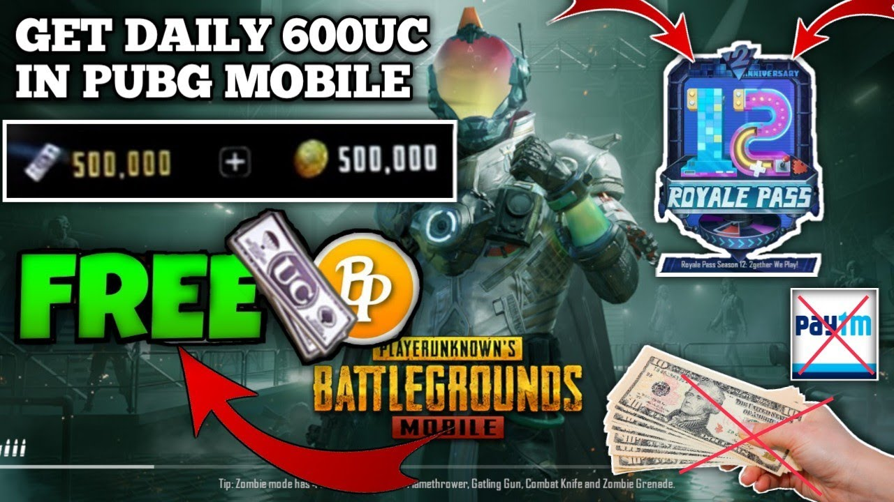 PUBG MOBILE FREE UC NO PAYTM NO REDEEM CODE || GET UNLIMITED UC WITHOUT PAYTM || FREE SEASON 12 PASS