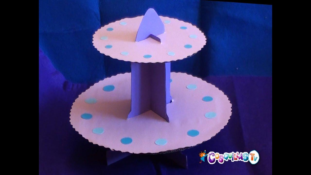 DIY Manualidades : Expositor de Cupcakes - YouTube