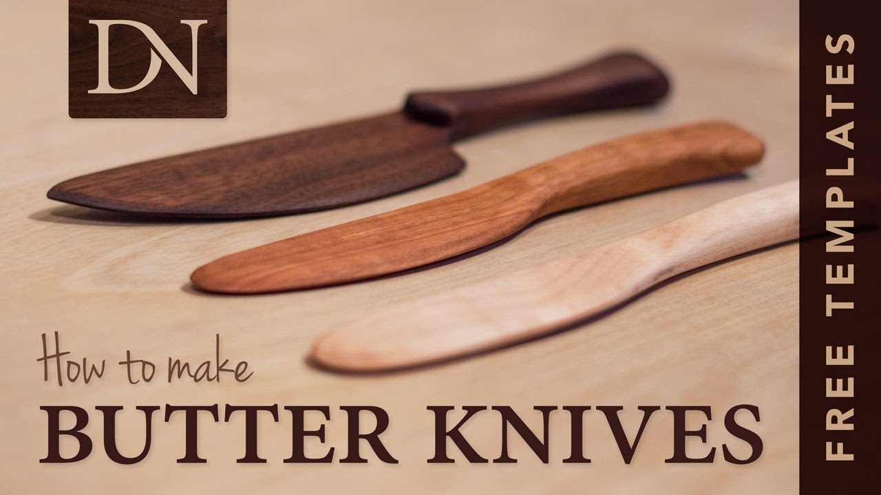 photograph about Printable Knife Templates identified as Straightforward Wood Butter/Unfold Knives: 12 Actions (with Shots)