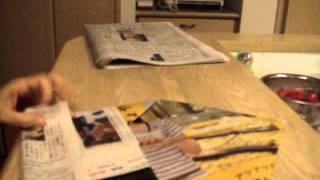 昔、雑誌ESSEで紹介されていた折り方。