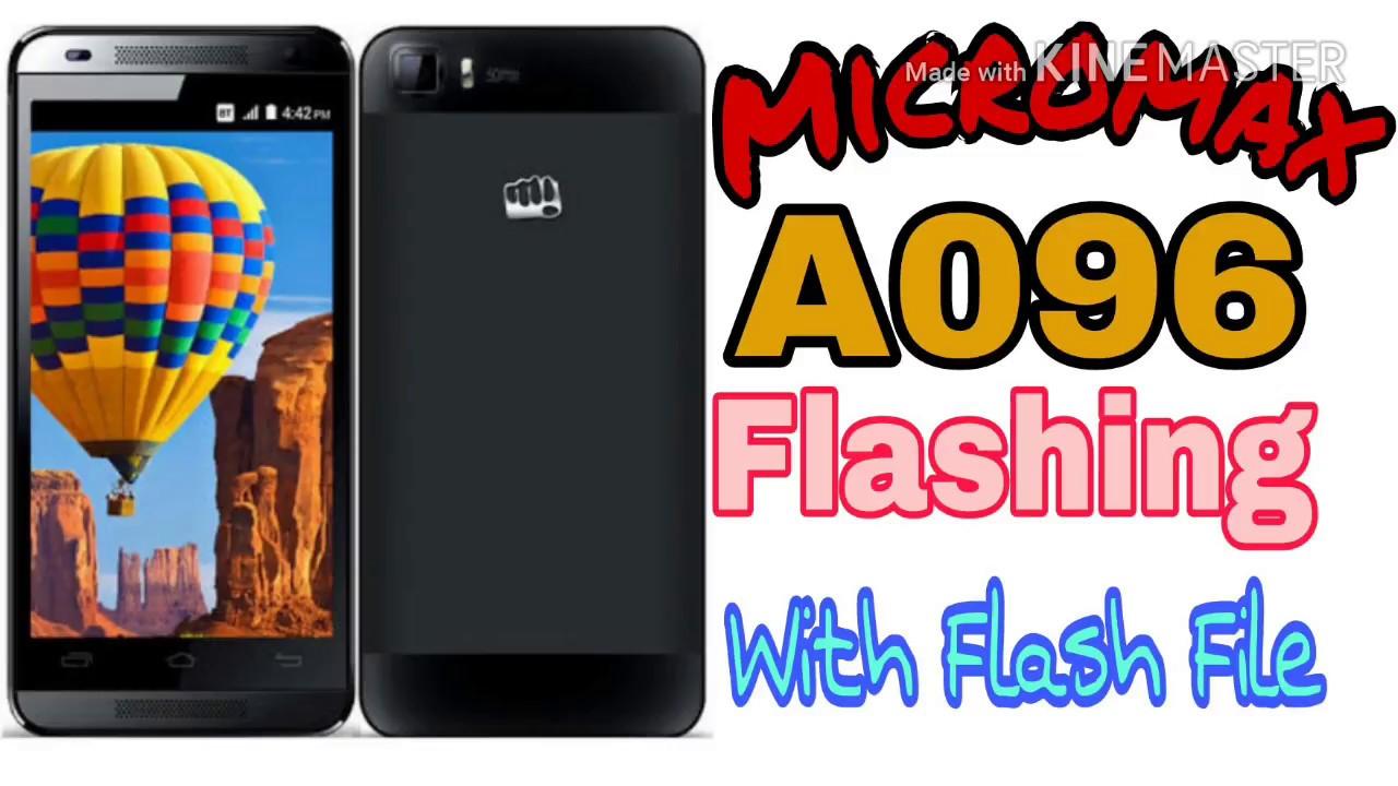 micromax a096 flash file