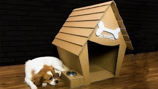 How to Make Amazing Puppy Dog House From Cardboard Diy By King OF Crafts