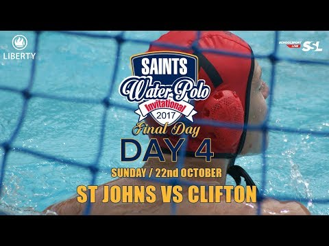 3rd/4th: St John's​ vs Clifton - Saints Waterpolo Invitational 22 October 2017 - Final Day