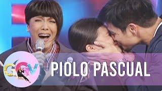 Piolo kisses a lucky lady from the audience | GGV