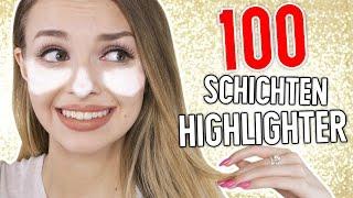 WTF!! 100 SCHICHTEN HIGHLIGHTER im GESICHT! | XLAETA