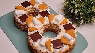 Торт ЦИФРА 8 на 8 марта Мягкие Медовые Коржи для Любой Знаменательной Даты Абсолютный ТРЕНД