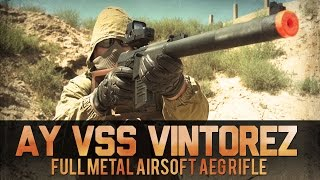 AY VSS Vintorez Full Metal Airsoft AEG Rifle   Airsoftmegastore.com