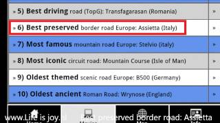 10 best motorcycle roads in Europe, compilation on BMW R1200GS motorbike. (Also on Android App)