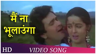 Main Na Bhulaoonga (Duet) | Inteha Pyar Ki (1992) | Rishi Kapoor | Rukhsar | Suresh Wadkar Hits