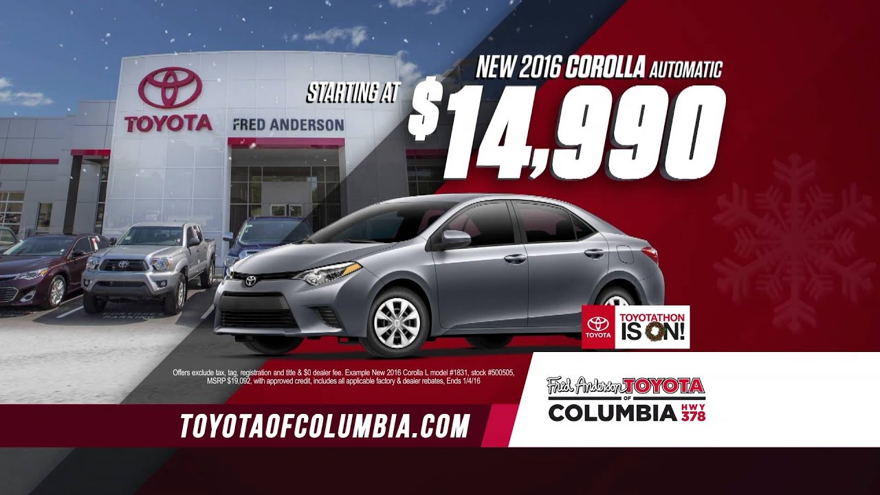 fred anderson toyota of columbia 2015 toyotathon youtube. Black Bedroom Furniture Sets. Home Design Ideas