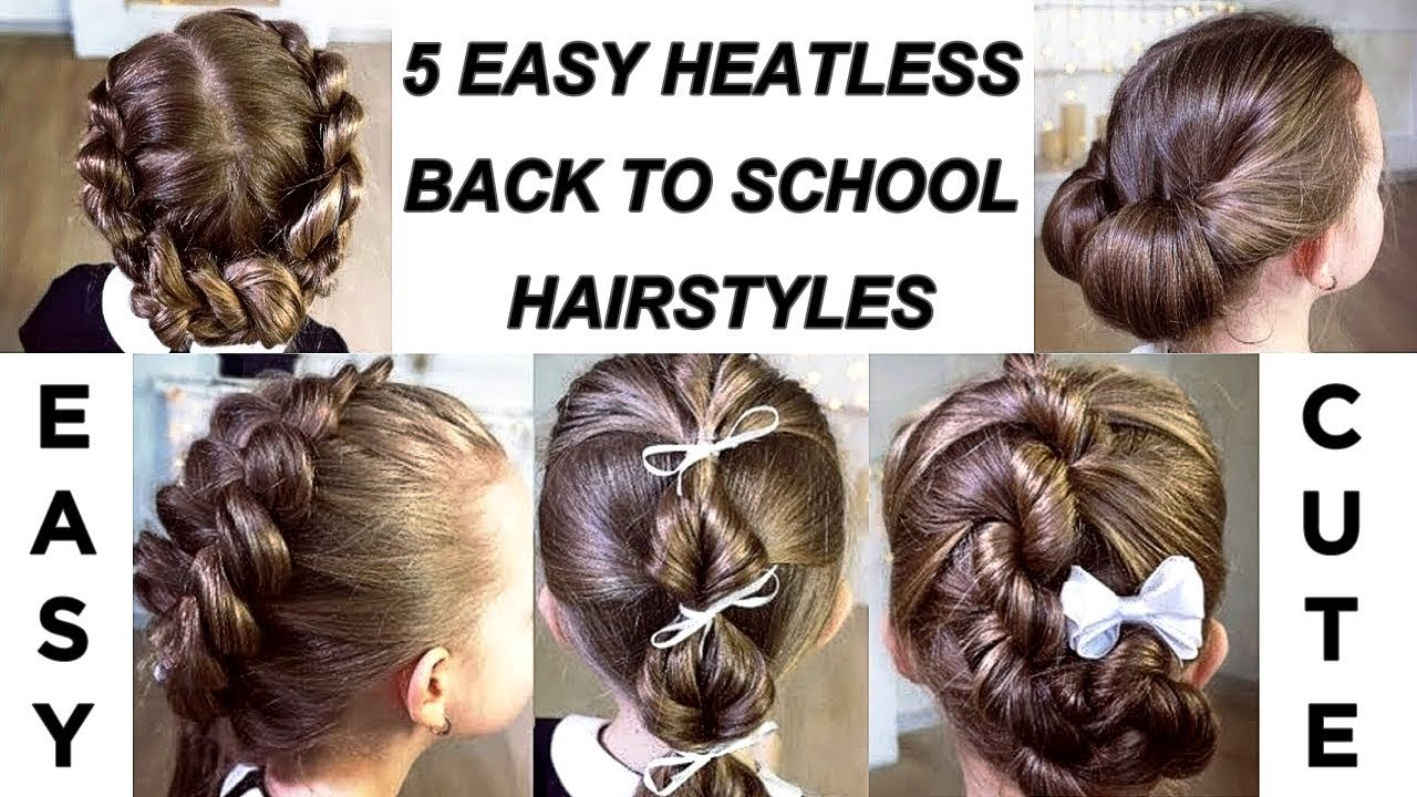 TOP 5 easy and beautiful hairstyles for school! Super hairstyles for ...