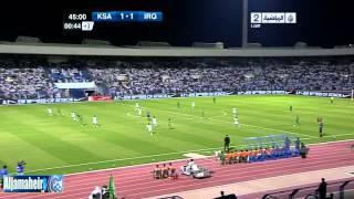 هدف يونس محمود السعودية و العراق تصفيات كأس آسيا 2015