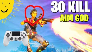 30 Kill Solo Squads **TOP CONTROLLER PLAYER** Best PS4 Aim