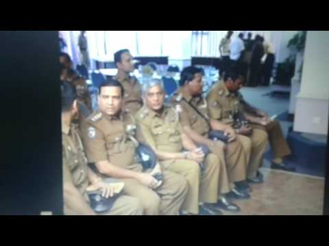 Surath Chamara Widanapathirana - A Farewell Speech - Police Office, Colombo, Sri Lanka.( Part 1)