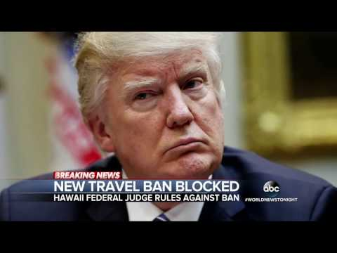 Hawaii judge temporarily blocks President Trump's revised travel ban
